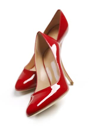 A pair of red high heels