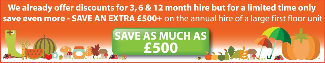 Save up to £500 on annual hire at first floor