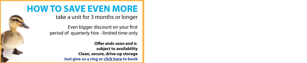 Special offer - don't miss out on cheap storage